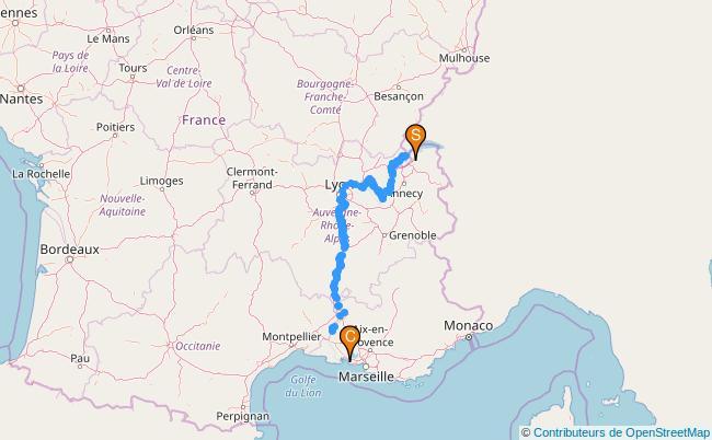 plan Le Rhône