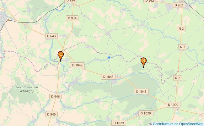 plan Rivière Sambre