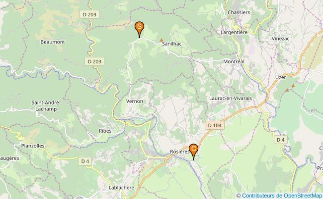 plan Ruisseau de Blajoux