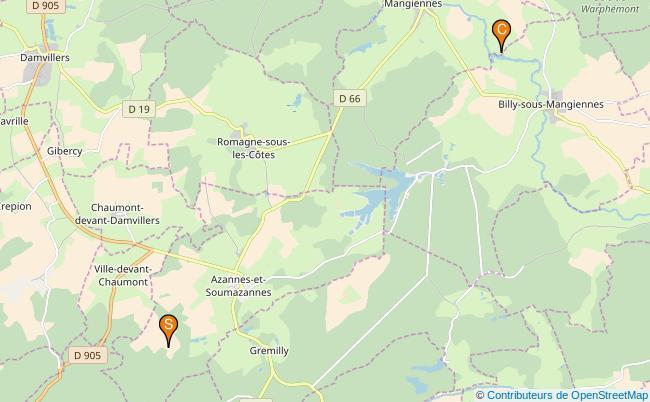 plan Ruisseau l'Azanne