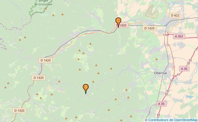 plan Ruisseau la Magel