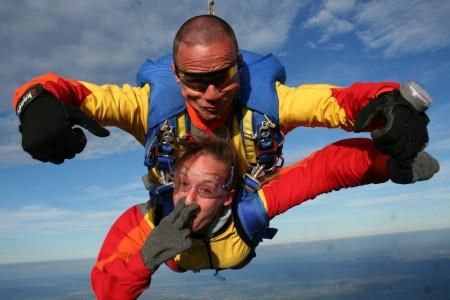 saut en parachute octeville