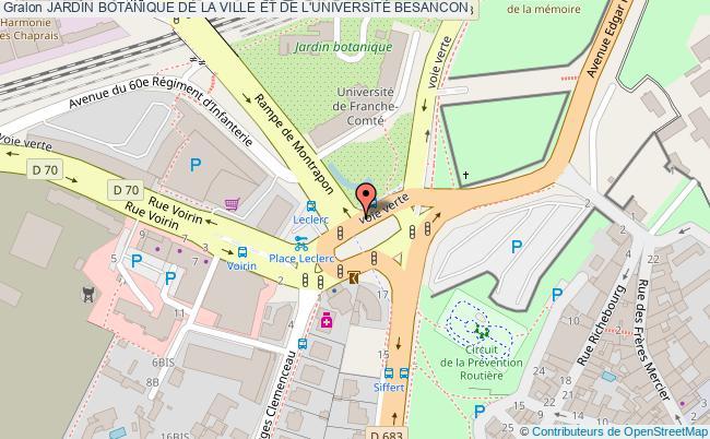 plan Jardin Botanique De La Ville Et De L'universitÉ Besancon