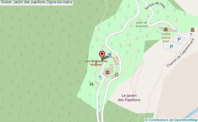plan Jardin Des Papillons Digne-les-bains