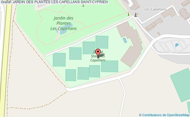 plan Jardin Des Plantes Les Capellans Saint-cyprien