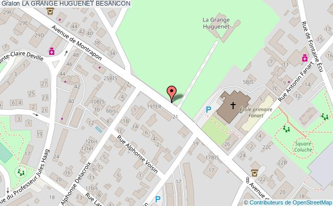 plan La Grange Huguenet Besancon