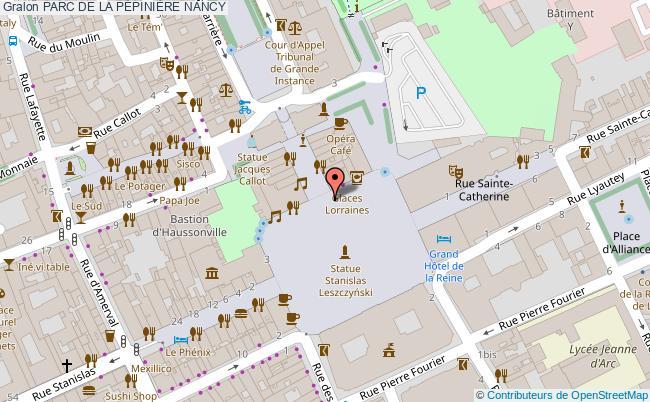 plan Parc De La PÉpiniÈre Nancy