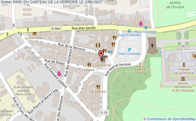 plan Parc Du ChÂteau De La Verrerie Le Creusot