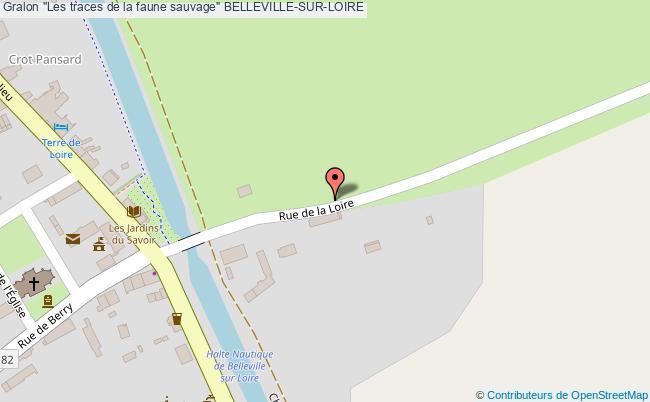 """plan """"les Traces De La Faune Sauvage"""" Belleville-sur-loire"""