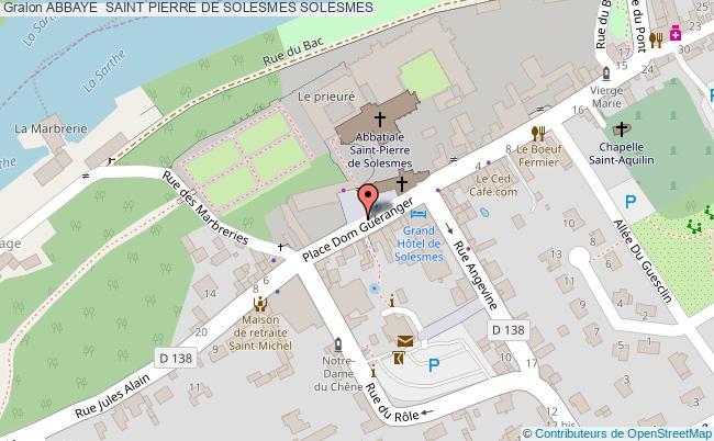 plan Abbaye  Saint Pierre De Solesmes Solesmes