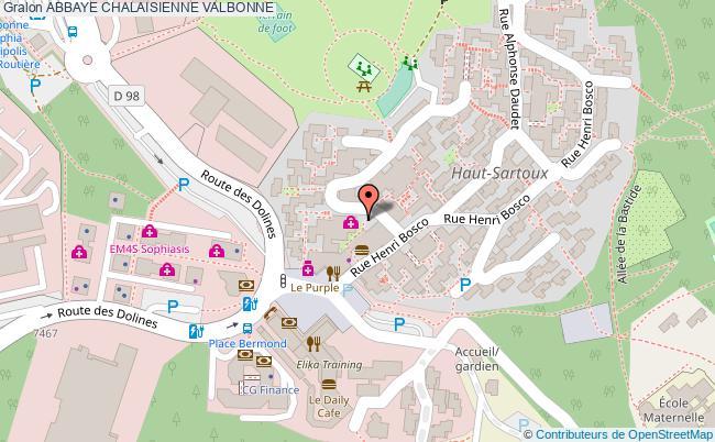 plan Abbaye Chalaisienne Valbonne