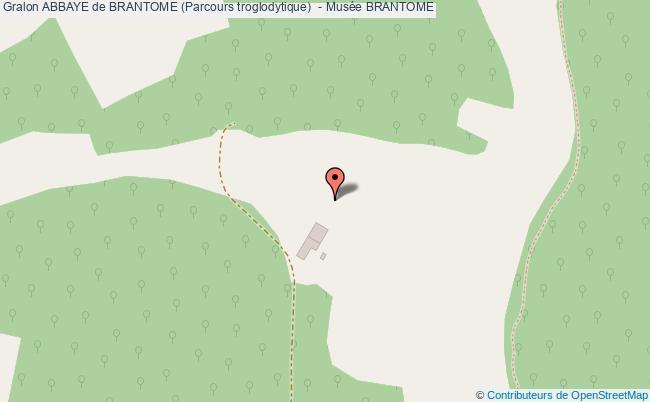 plan association Abbaye De Brantome (parcours Troglodytique)  - Musée Brantome BRANTOME