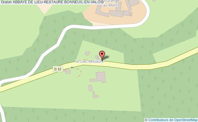 plan Abbaye De Lieu-restaure Bonneuil-en-valois