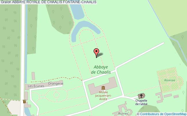 plan Abbaye Royale De Chaalis Fontaine-chaalis