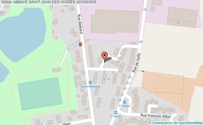 plan Abbaye Saint-jean-des-vignes Soissons