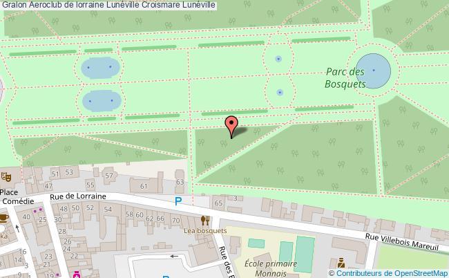 plan Aeroclub De Lorraine Lunéville Croismare Lunéville
