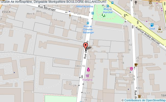 plan Air Atmosphère, Dirigeable Montgolfière Boulogne-billancourt