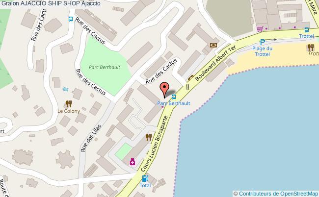 plan Ajaccio Ship Shop Ajaccio