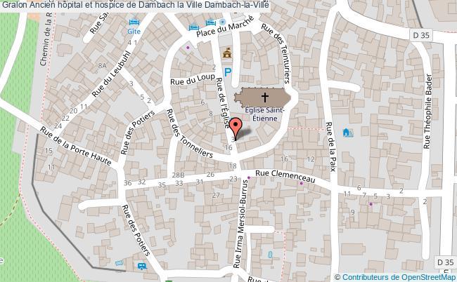 plan Ancien Hôpital Et Hospice De Dambach La Ville Dambach-la-ville