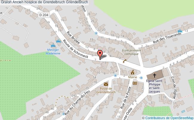 plan Ancien Hospice De Grendelbruch Grendelbruch