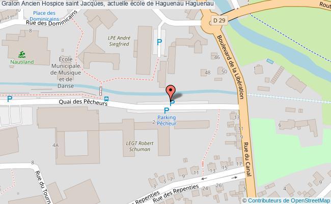 plan Ancien Hospice Saint Jacques, Actuelle école De Haguenau Haguenau