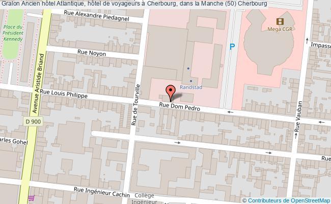 plan Ancien Hôtel Atlantique, Hôtel De Voyageurs à Cherbourg, Dans La Manche (50) Cherbourg