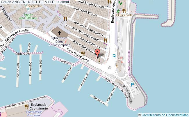 plan Ancien HÔtel De Ville La Ciotat