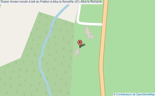 plan Ancien Moulin à Blé Du Pratton à Alba La Romaine (07) Alba-la-romaine