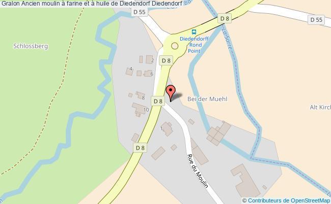 plan Ancien Moulin à Farine Et à Huile De Diedendorf Diedendorf
