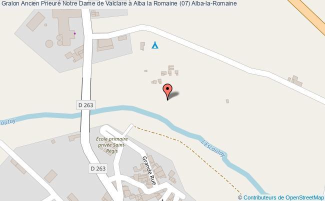 plan Ancien Prieuré Notre Dame De Valclare à Alba La Romaine (07) Alba-la-romaine