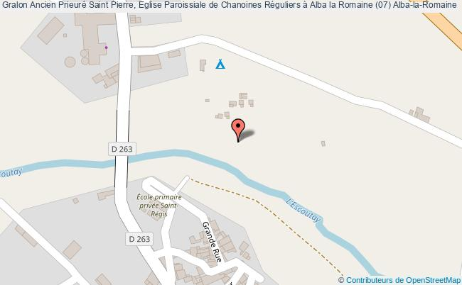 plan Ancien Prieuré Saint Pierre, Eglise Paroissiale De Chanoines Réguliers à Alba La Romaine (07) Alba-la-romaine