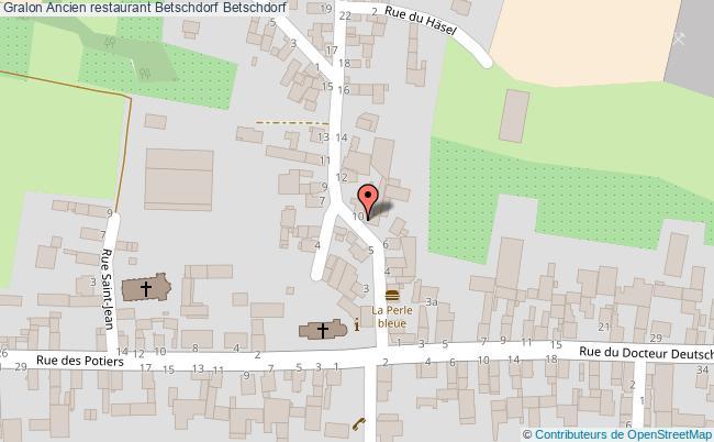 plan Ancien Restaurant Betschdorf Betschdorf