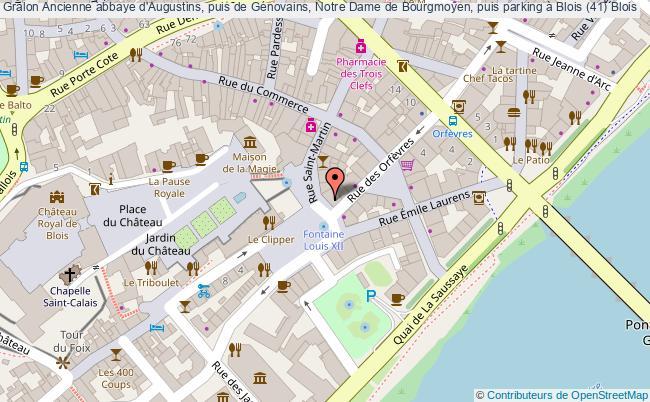 plan Ancienne Abbaye D'augustins, Puis De Génovains, Notre Dame De Bourgmoyen, Puis Parking à Blois (41) Blois