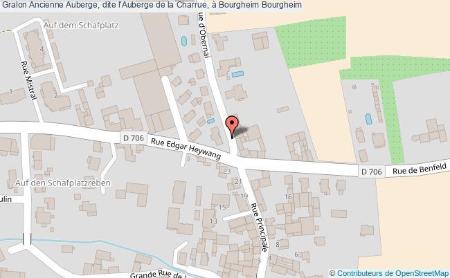 plan Ancienne Auberge, Dite L'auberge De La Charrue, à Bourgheim Bourgheim