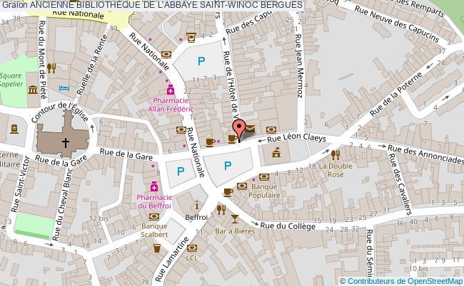 plan Ancienne Bibliotheque De L'abbaye Saint-winoc Bergues