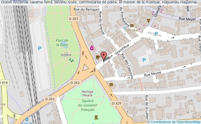 plan Ancienne Caserne Aimé, Devenu Lycée, Commissariat De Police, Et Maison De La Musique, Haguenau Haguenau