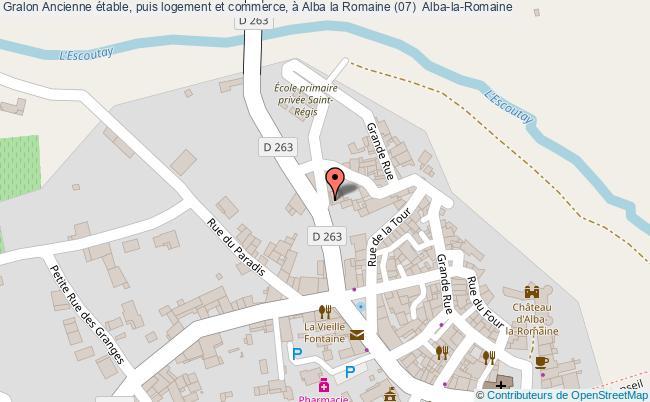plan Ancienne étable, Puis Logement Et Commerce, à Alba La Romaine (07)  Alba-la-romaine