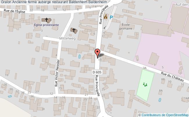 plan Ancienne Ferme Auberge Restaurant Baldenheim Baldenheim