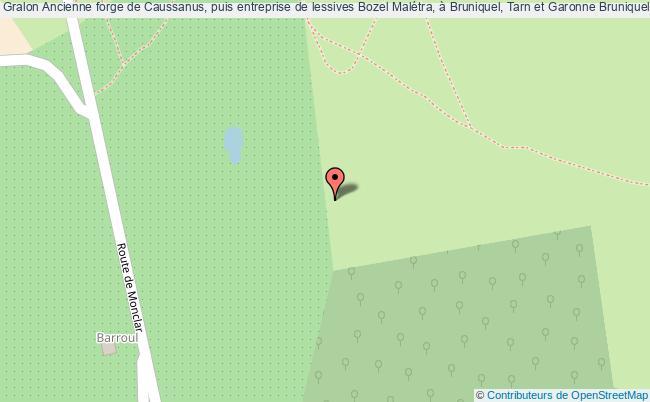 plan Ancienne Forge De Caussanus, Puis Entreprise De Lessives Bozel Malétra, à Bruniquel, Tarn Et Garonne Bruniquel