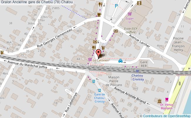 plan Ancienne Gare De Chatou (78) Chatou