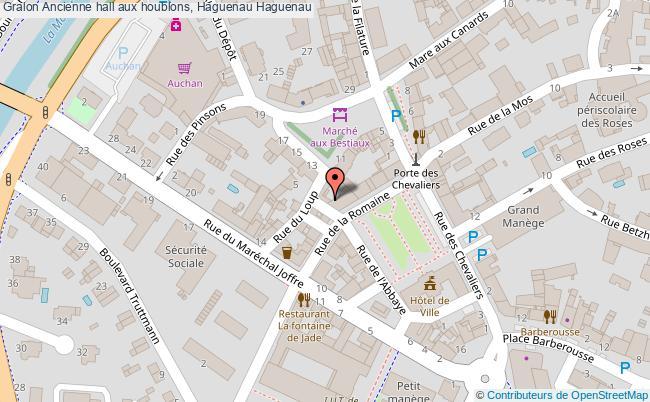 plan Ancienne Hall Aux Houblons, Haguenau Haguenau
