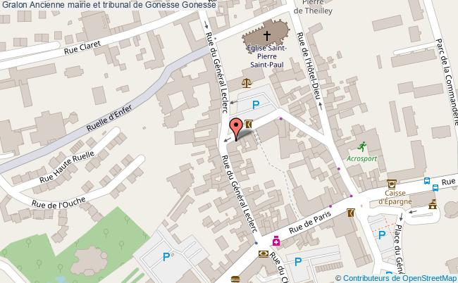plan association Ancienne Mairie Et Tribunal De Gonesse Gonesse Gonesse
