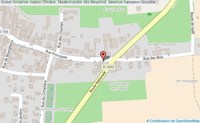 plan Ancienne Maison Dîmière, Niedermunster Dite Meyerhof, Devenue Habitation Goxwiller