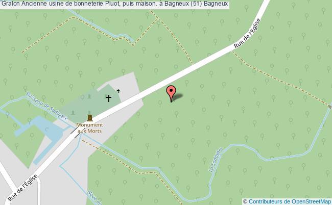 plan Ancienne Usine De Bonneterie Pluot, Puis Maison. à Bagneux (51) Bagneux