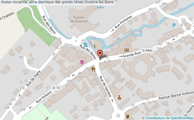 plan association Ancienne Usine électrique Des Grands Hôtels Divonne-les-bains Divonne-les-Bains