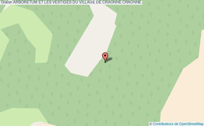 plan Arboretum Et Les Vestiges Du Village De Craonne Craonne