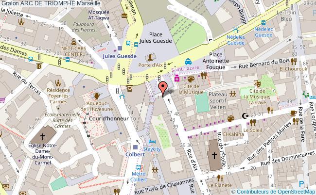 plan Arc De Triomphe Marseille