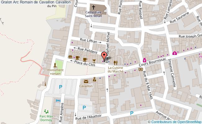 plan Arc Romain De Cavaillon Cavaillon