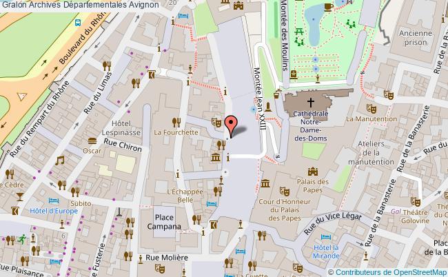 plan Archives Départementales Avignon