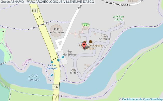 plan association Asnapio - Parc ArchÉologique Villeneuve D'ascq VILLENEUVE D'ASCQ